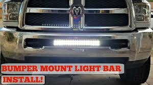 2018 Dodge Ram 1500 Light Bar Bumper Mount Led Light Bar Install For 03 17 Ram 2500