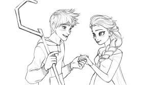 Small Picture Elsa And Jack Coloring PagesAndPrintable Coloring Pages Free