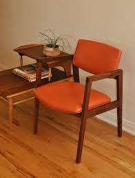 mid century desk chair. Mid Century Orange And Walnut Office/Desk Chair Desk S