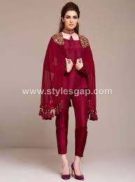 Captop Dress Design Latest Pakistani Cape Style Dresses 2019 2020 Top Designer