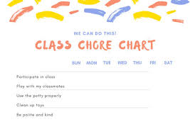White With Brush Strokes Header Preschool Chore Chart