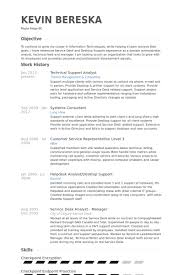 technical support analyst resume samples technical analyst resume