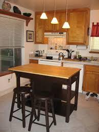 Small Kitchen Island Table Small Kitchen Island With Stove Ideas Gray Exposed Brick Concrete
