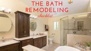 bathroom remodeling checklist bathroom remodel checklist to get started remodel works