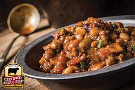 chuck wagon beef and beans recipe provided by the certified angus beef brand