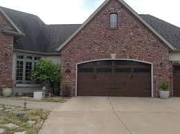 199v5 20ra2 16 x 8 and 9 x 7 thermacore doors mission oak finish with stockbridge 2 4 lite windows decorative bean hardware