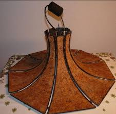 Vintage Designer Lampe Aus Kork