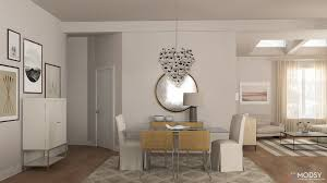 Living And Dining Room Modsy Collections A Soothing Serene Living Dining Room