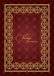 luxury ornamental golden vintage frame vector image vector ilration of borders and frames leonido to zoom
