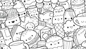 Cute Kawaii Coloring Pages Book Doodles Of Best Cat Food Acnee
