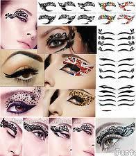 makeup lace eye sticker eye liner eye shadow sticker transfer quality temporary tattoo