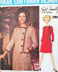 Ladies Dress Design Patterns Classy 1960s Sybil Connolly Asymmetric Coatdress Pattern Vogue Couturier Design 2183 Stylish Dress Design Day Or After 5 Size 10 Vintage Sewing