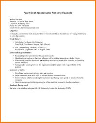 front desk attendant sample resume waitress police hospitality templates examples office samplesresume assistant hotel