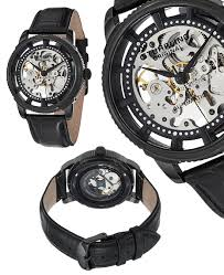 stuhrling original skeleton watches 85 for men s skeleton automatic watch in black pvd gp12766 625 list price