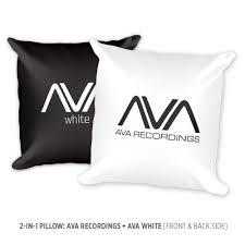 "Pillow: 2-in-1 AVA + AVA White Logos [18x18""] · AVA Recordings · Online  Store Powered by Storenvy"