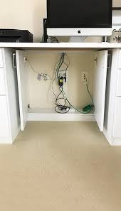 home office cable management. Custom Office Wire Management Opens For Easy Access Home Cable