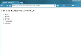 Ordered List Html Lists Tutorial Ordered List Unordered