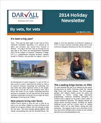 free holiday newsletter template sample holiday newsletter 7 documents in pdf