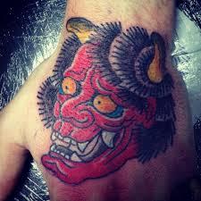 фото тату демон в стиле японский от мастера алексей пластовец