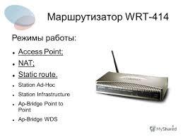 Презентация на тему Дипломная работа на тему Использование  station ad hoc station infrastructure ap bridge point to point ap bridge wds Режимы работы