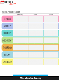 Calendars For Pregnancy Free Blank Printable Weekly Calendar 2019 Template In Pdf