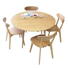 there are bright and natural scandinavian style oak dining table 5 piece set