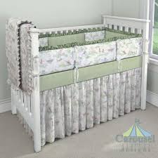 Light Green Crib Skirt Custom Nursery Bedding Custom Baby Bedding Nursery Design