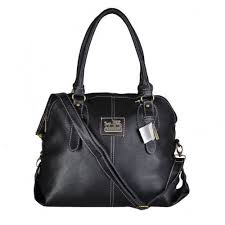 Coach Logo Charm Small Black Satchels DWN