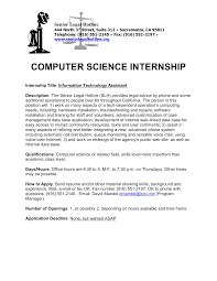 Science Resume Cover Letter Resume For Internship For Computer Science Therpgmovie 28