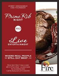 prime rib dinner flyer.  Rib For Prime Rib Dinner Flyer R