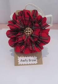 red tartan scottish brooch tartan corsage scottish gift idea handmade accessories etsy uk burns day st andrews day hogmanay gift by awfybrawjewellery