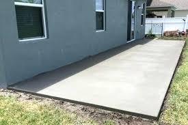 concrete slab patio. Concrete Slab Backyard 1 Cement Within Patio Ideas Decorations 6