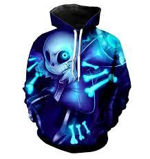 <b>new</b> Undertale hoodies <b>2018 new design</b> Sans pattern 3D printing ...