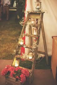 Creative decor diy lighting wedding full size Party Decor Ladder Lighting Diyscom 50 Beautiful Rustic Wedding Ideas