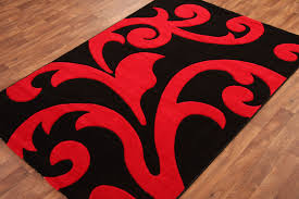 red area rug plush