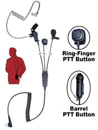 law enforcement police communication accessories 3 wire earpiece