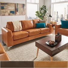 modern brown leather sofa. Modren Brown Bastian Aniline Leather Sofa By INSPIRE Q Modern Inside Brown