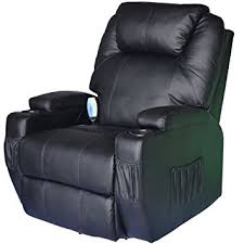 luxury leather recliner chairs. homcom luxury leather massage sofa adjustable recliner chair armchair (black) chairs d