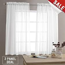 window with white curtains.  Window Sheer White Curtains For Living Room 63 Inch Length Bedroom Window Curtain  Panels Throughout With