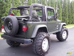 Moss Green Pearlcoat 2004 Jeep Wrangler Willys Edition 4x4 ...