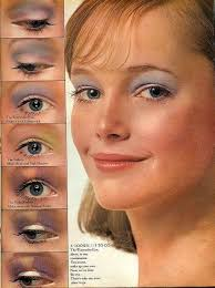 1970s eye makeup from seven magazine a can never wear too much blue eye shadow lol
