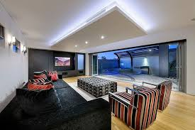 large recessed lighting. Lighting Ideas, Modern Living Room Style With Recessed Design And Large Glass