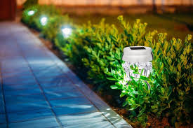 LED Solar Powered G40 String Lights  10 Lights  Outdoor Outside Solar Powered Lights
