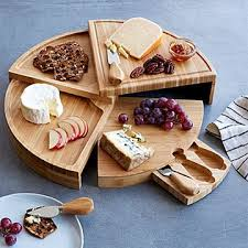 Amazing Compact Swivel Cheese Board With Knives