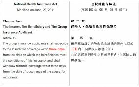 How To Get A Doctors Note For Work Without Insurance Taiwan Nhi National Health Insurance In Taiwan