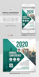 Annual Conference Instagram Stories Template In Psd Post Templates