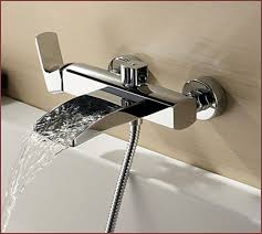 wall mount bathtub faucet with hand shower