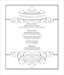 Free Wedding Menu Template Templates Download Theoutdoors Co