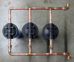 diy whole house water filter. The Three-Filter Manifold Was Build By Denton Plumber Larry Sawyer For A New Jersey Carwash. It Divides Water Stream Into Thirds To Provide Sediment Diy Whole House Filter I