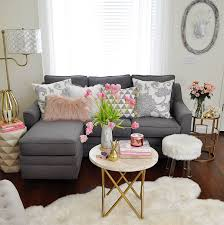 decorated small living rooms. Contemporary Rooms 2 Gray Chaise Sofa With Plump Cushions Throughout Decorated Small Living Rooms